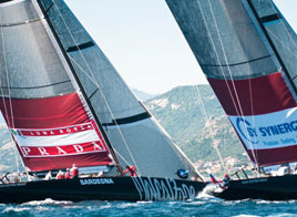 LOUIS VUITTON TROPHY WSTA LA MADDALENA, LUNA ROSSA VS TEAM ORIGIN (ENG)