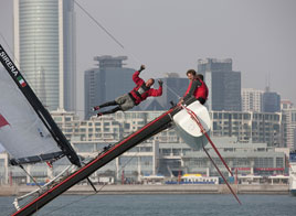 EXTREME SAILING SERIES ACT 2, FIRST DAY OF RACING IN QINGDAO