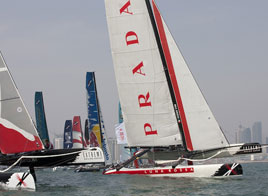 EXTREME SAILING SERIES ACT 2, LUNA ROSSA MOVING UP IN THE RANKING