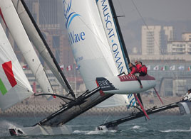 EXTREME SAILING SERIES ACT 2, SUMMERSAULTS ON THE WATER IN QINGDAO, LUNA ROSSA STAYS UPRIGHT