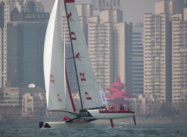 EXTREME SAILING SERIES ACT 2, LUNA ROSSA TAKES THE LEAD
