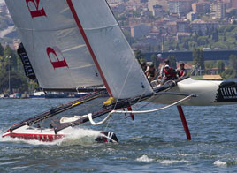 EXTREME SAILING SERIES ACT 3, UPS AND DOWNS ON THE BOSPHORUS