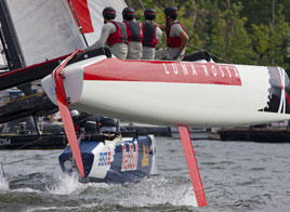 EXTREME SAILING SERIES ACT 4, LUNA ROSSA SCORES FIFTH ON DAY ONE