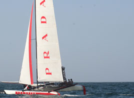 EXTREME SAILING SERIES ACT 1, LUNA ROSSA AT ITS DEBUT