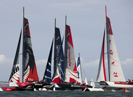 EXTREME SAILING SERIES ACT 5, EXTREME CONDITIONS PUT A STOP ON RACING