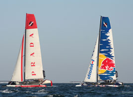 EXTREME SAILING SERIES ACT 1, A DIFFICULT DAY