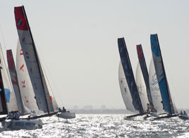 EXTREME SAILING SERIES ACT 1, MOVING UP THE RANKING