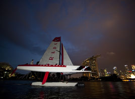 EXTREME SAILING SERIES ACT 9, FIRST DAY IN SINGAPORE