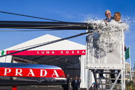 AC72 Luna Rossa, challenger for the 34th America's Cup, is launched