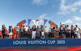 Luna Rossa Challenge faced Emirates Team New Zealand for the last time in the Louis Vuitton Cup 2013 Finals